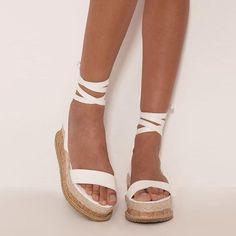 9946ac951619 Laced Up Gladiator Platform Sandals