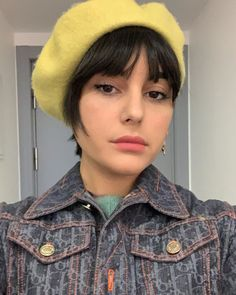 I don't like to post selfies but I like this green lime vintage berret so (May delete after) Post Selfies, Colours, Lime, Hats, Berets, Green, Vintage, Instagram, Fashion