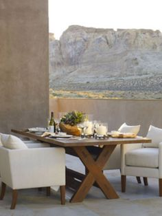 One more outdoor dinning table