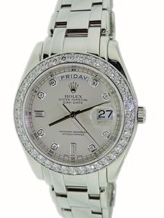 Gents Platinum Rolex Masterpiece Day-Date Watch with Diamonds, ref #18946 from Baer & Bosch Auctioneers.
