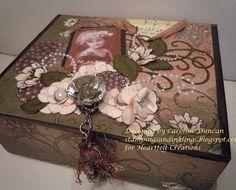 Keepsake Altered Wooden Cigar Box designed by Caroline Duncan ~ stampings and inklings