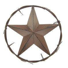 This Metal Star In Circle Features Lots Of Western Charm And Will Add A  Unique Touch To Any Decor. It Measures Approximately 12 In Diameter And  Hangs From A ...
