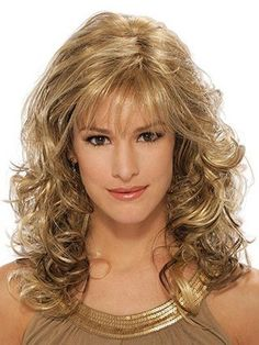 Modern Blonde Wavy Long Classic Wigs Real Hair Wigs Classic Bobs - June 29 2019 at Hair Styles 2016, Medium Hair Styles, Curly Hair Styles, Hair Medium, Easy Hairstyles, Straight Hairstyles, Long Haircuts, Famous Hairstyles, Modern Hairstyles