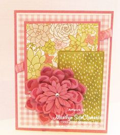Today I am sharing a card that I made with the Stampin' Up! Succulent Garden suite of products. All I can say is WOW!! I love flowers and floral papers. This is my new favorite floral set!…
