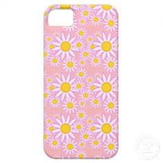 Colorful Pink and Yellow Daisies iPhone 5 Case by Graphic Allusions #iphone5 #flowers #floral #daisy