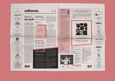 BCN Més newspaper redesign - Fun Graphics - Ideas of Fun Graphics - Graphic design for a monthly independent Barcelona newspaper based on a 3 stroke system and asymmetric distribution of space. Fun quirky and bold design just like its content. Newspaper Design Layout, Page Layout Design, Web Design, Magazine Layout Design, Book Layout, Book Design, Essay Layout, Design Trends, Graphic Design Posters