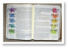 I accidently discovered Good Morning Girls when I was looking online for ways to better study my bible. I have always been a very visual learner (seriously, you should see my notes and study guides… Exodus Bible, Faith Bible, My Bible, Bible Art, Bible Scriptures, Bible Study Journal, Scripture Study, Art Journaling, Scripture Doodle