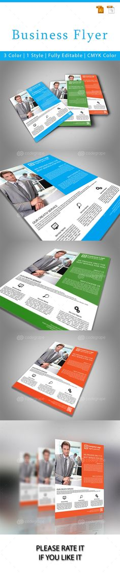 Business Flyer Template - http://www.codegrape.com/item/business-flyer-template/6870