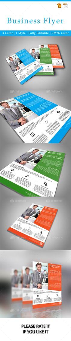 Business Flyer Template - http://www.codegrape.com/item/business-flyer-template/6870