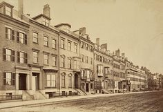 Beacon Street in 1870. What a marvelous row of homes, benefiting greatly from the lack of asphalt and cars