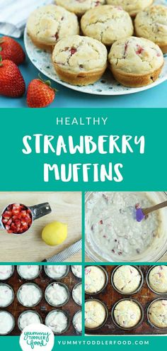 Muffins Make a quick batch of healthy Strawberry Muffins to fuel your kids for breakfast or snack time.Make a quick batch of healthy Strawberry Muffins to fuel your kids for breakfast or snack time. Healthy Toddler Meals, Healthy Snacks For Kids, Healthy Drinks, Kid Snacks, Quick Snacks, Toddler Food, Healthy Muffins For Toddlers, Easy Toddler Snacks, Toddler Dinners