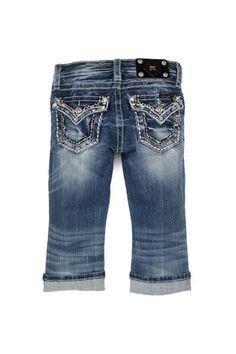 2d04497581 Girls Glitter Forever Cuffed Capri Capri Jeans, My Girl, Girl Outfits