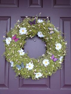 Spring Wreath-so simplistic, but so pretty