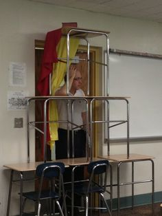 """My AP euro teacher wouldn't let our class watch Les Mis so we barricaded the door and screamed """"VIVE LA REVOLUCIÓN"""" when he tried to get in. That is the face of a man who is 24601% done."""