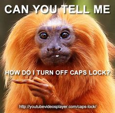 Find out how to turn off caps lock at http://youtubevideosplayer.com/caps-lock
