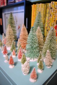 Cut to Pieces: Hand Dyed Bottle Brush Tree Tutorial