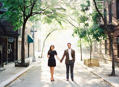 Photography: Judy Pak Photography - judypak.com  Read More: http://www.stylemepretty.com/2014/06/13/west-village-highline-engagement-session/