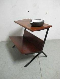 jaren 60 teakhout/metalen Pastoe/Martin Visser lectuurbak, E 35