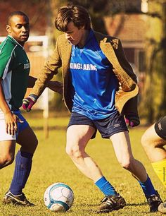 The Doctor.  And football/soccer.  And Matt Smith.  And gloves.  What more does a picture need to constitute a pin?