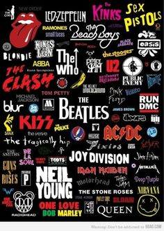 Just a few of my favorite groups... Lately, I have been listening to old Who music... so good.