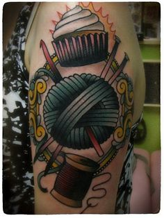 If my mom ever got a tattoo (def not going to happen), but the idea of this one would be perfect for her. She bakes, sews, knits, and crochets! She's a woman of MANY talents.