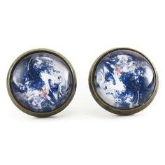 Planet Earth Stud Earrings – CellsDividing