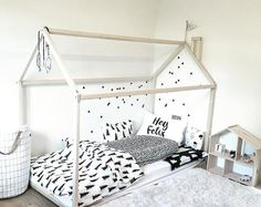 Twin size toddler bed house bed tent bed by SweetHOMEfromwood