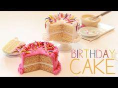 ▶ Birthday Cake - Miniature Polymer Clay Tutorial - YouTube