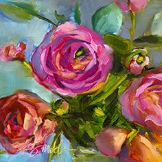 love sweet love is a fine art giclee print of gorgeous ranunculus by Lancaster, Pa artist Kim Smith is on in a series of floral prints