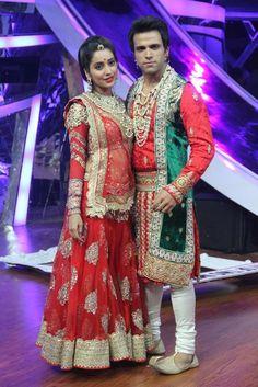 Rithvik Dhanjani and Asha Negi on 'Nach Baliye 6'. #Style #Bollywood #Fashion #Beauty