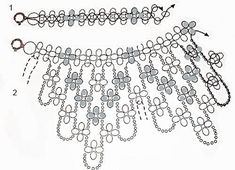 Best Seed Bead Jewelry 2017 Spring floral dangle necklace clear schemas but translate instructions SeedSome imagination needed.Collar and earrings of beads.Black and white necklace tutorial Seed Bead Jewelry, Beaded Jewelry, Beaded Necklace, White Necklace, Beading Projects, Beading Tutorials, Jewelry Patterns, Beading Patterns, Necklace Tutorial