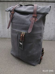 Tanner Rucksack in Charcoal - Blue Owl Workshop