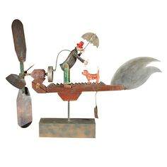 Working Whirligig | From a unique collection of antique and modern more folk art at http://www.1stdibs.com/furniture/folk-art/more-folk-art/