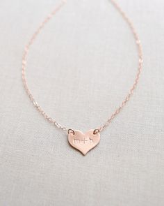 Personalize this adorable heart with initials or simply leave blank and let it shine on its on. Choose from rose gold or gold. #valentinegift