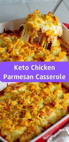 Keto Chicken Parmesan Casserole #ketorecipes #lowcarb #casserole