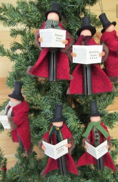 No pattern, but a cute idea for clothes pin ornament at Christmas