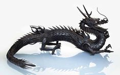 When a period of peace led to a slow-down in business for makers of samurai armour in 17th-century Japan, some turned their skills to making articulated sculptures such as this amazing dragon offered on 25 April in New York