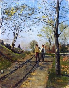 Edvard Munch - Two Boys on a Country Lane, 1882.