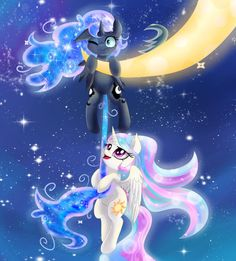I miss you so much sis by Lyra-senpai My Little Pony List, My Little Pony Princess, My Little Pony Twilight, My Little Pony Pictures, My Little Pony Friendship, Princesa Celestia, Celestia And Luna, Unicornios Wallpaper, Kawaii Wallpaper