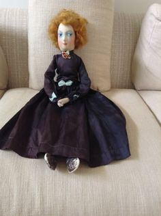 Beautiful-Beguiling-Unusual-Curly-Red-Haired-Painted-Cloth-Faced-Boudoir-Doll