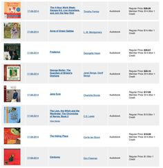 List of great audio books.