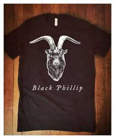 Black Phillip T-Shirt The Witch by woeandshucks on Etsy