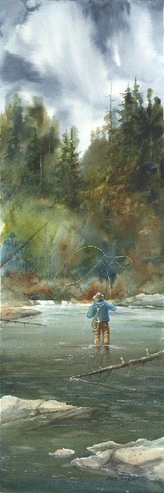 Lance Johnson 30x10 watercolor