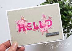 Stampin Up Floral Statements Card by Stampin with Liz Design