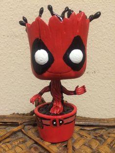 Custom Deadpool Dancing Groot Funko Pop Guardians of The Galaxy Bobble Head | eBay