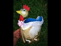DIY Gallina para huevos Reciclaje botellas plástico PET día de madres hen plastic bottle mothers day - YouTube