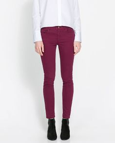 Image 2 of COLORED SATIN TROUSERS from Zara