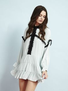 Peppermint Ruffle Dress