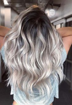 63 Cool Ash Blonde Hair Color Shades: Ash Blonde Hair Dye Kits to Try Cool Ash Blonde, Light Blonde Hair, Blonde With Dark Roots, Bleach Blonde Hair With Roots, Blonde Hair Dark Eyes, Black And Blonde Ombre, Ash Ombre, Icy Blonde, Platinum Blonde