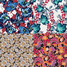 Flower Powerinspired Patternbank Studio Designs by Aina Martinez Snape, Green Paz, DFLC Prints,Michelle Kistima-Menser